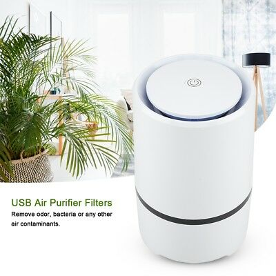 USB Air Purifier Hepa and Active Carbon Filters Odor Allergies Eliminator