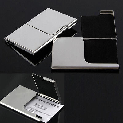 Hot Stainless Pocket Business Name Credit ID Card Holder Box Metal Box Case