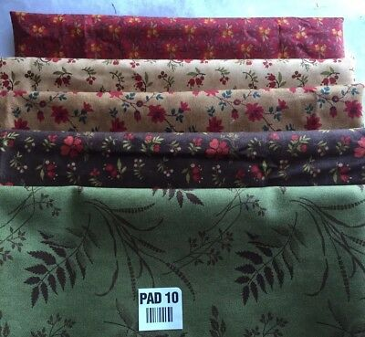 5 Yards Quilt Fabric Kit Moda 1 Yard Of Each Coordinating Fabric Red Green Beige