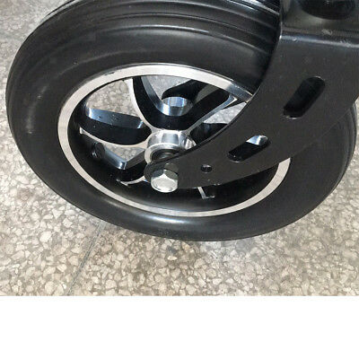 Firm Durable Universal 8'' Rubber Gear Front Fork for Wheelchairs Rollators