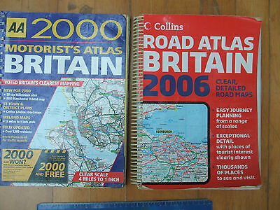 2x LARGE SCALE AA/COLLINS GREAT BRITAIN ATLASES.480+ PAGES.