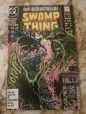 Swamp Thing #53 Nm- Justice League Dark 1 Alan Moore 1986 Batman 1 Comic
