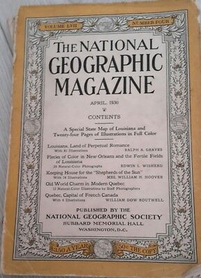 The National Geographic Magazine:  April 1930 Volume LVII Number 4