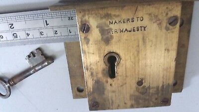 Vintage Solid Brass Chubb Safe Lock With Escutcheon 90mm Circa 1950's.5 Lever