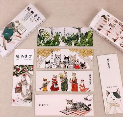32 pcs/pack Japanese Style Cute Cat book marks Cartoon paper style random