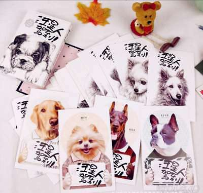 36Sheets/Set Kawaii Dog Postcard /Greeting Card/Message Card Style Random