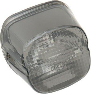 Drag Specialties Laydown Tail Light Lens With Bottom Tag Window Harley Smoked
