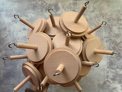 Heidifeathers®  Wooden Drop Spindles Or Spindle - For Hand Spinning