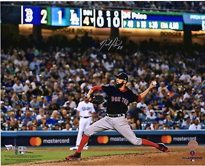 """David Price Red Sox 2018 World Series Champs Signed 16"""" x 20"""" WS Pitching Photo"""