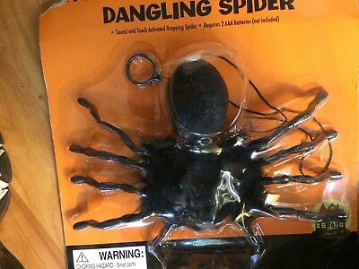 Animated Dropping Dangling Climbing Black Spider Halloween Decor