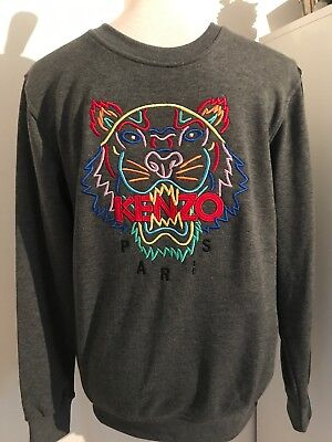 a0488509f97a PULL SWEAT HOMME Gris Taille M Kenzo Neuf Avec Etiquette - EUR 30,00 ...