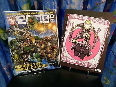 2000AD Xmas Special & Limited Edition Signed Starlord Henry Flint Print 75/1200