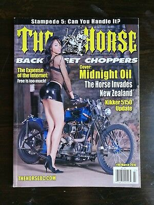 The Horse Back Street Choppers Magazine March 2010 #96 Kikker 5150 - Stampede 5