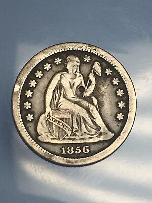 1856 O Seated Liberty Silver Dime VF Details
