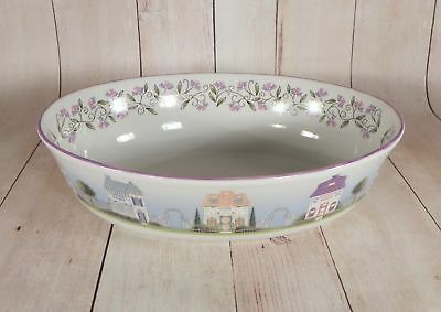 Lenox VILLAGE Oval Vegetable Serving Bowl in Original Box with COA 9-5/8