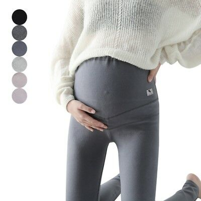 Pregnancy Comfortable Stretch Pants Maternity Over Belly Trousers Leggings New