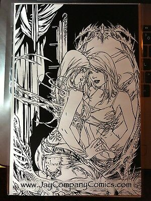 Witchblade #114 Ebas Virgin Sketch Variant Ltd 100 Nm Jay Company Top Cow Image