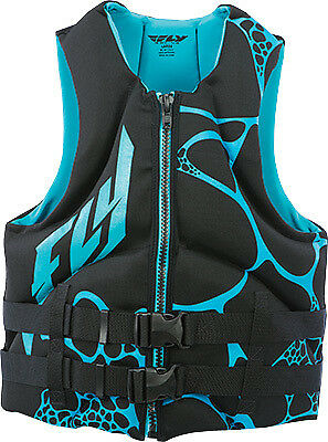 FLY RACING NEOPRENE VEST AQUA/BLACK XS X-Small 142424-505-010-16 221-21104