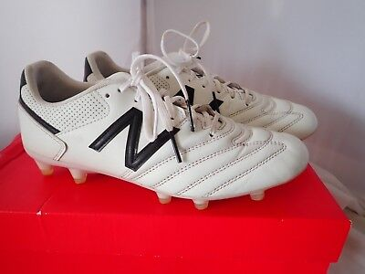 1ae9493b71865 New Balance Men's 442 Team FG V1 Classic Soccer Shoe, White/Black, 7.5