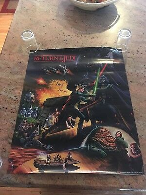Vintage 1983 Star Wars Return of the Jedi poster rare Coca-Cola Hi-C promo