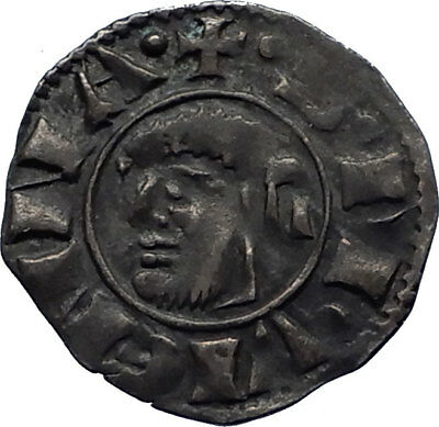 1204AD Medieval France Provincial Vienne Anonymous Silver Coin St Maurice i66625