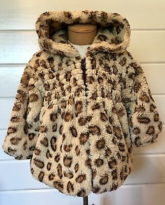 718b5ab26 INFANT GIRLS LEOPARD Cheetah Animal Print Winter Coat Bubble Puffer ...