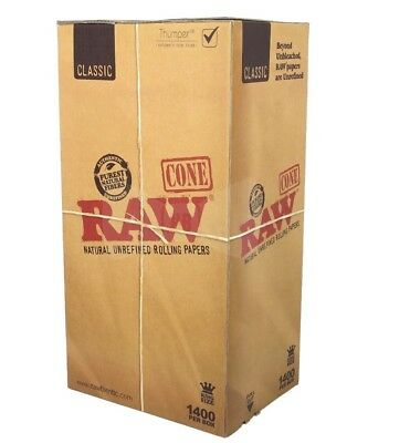 RAW Classic Cones King Size Pre-Rolled Cones- 1400
