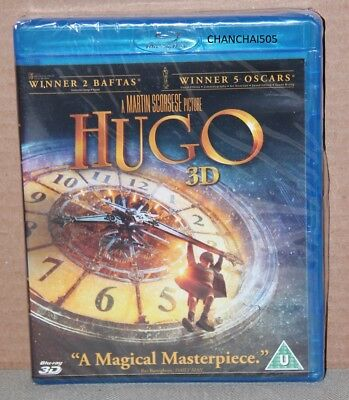 Hugo 3D (Blu-ray 3D/2D, 2015) Brand New, Sealed, PLEASE READ - REGION B ONLY