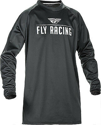 Fly Racing Windproof Jersey ATV UTV MX Black/Gray Medium Windproof Technical
