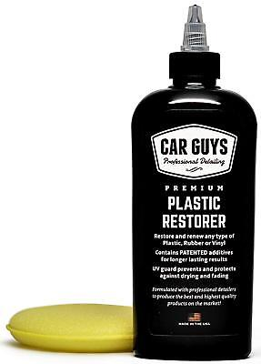 CarGuys Plastic Restorer-Ultimate Solution to bring Plastic, Rubber back to life