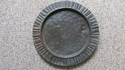 Antique Georgetown Colorado Solid Hammered Copper Serving Tray-Mining Museum