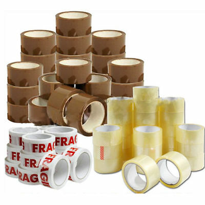 LONG LENGTH TAPE STRONG CLEAR / BROWN / FRAGILE 48mm x 90M PACKING PARCEL TAPE