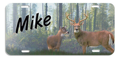 Deer Doe Buck Forest Auto License Plate Personalize Gifts Men Ladies Metal