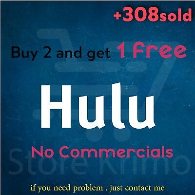 Hulu account Premium Warranty No Commercials Fast Delivery Less Than 8hoursCHEAP