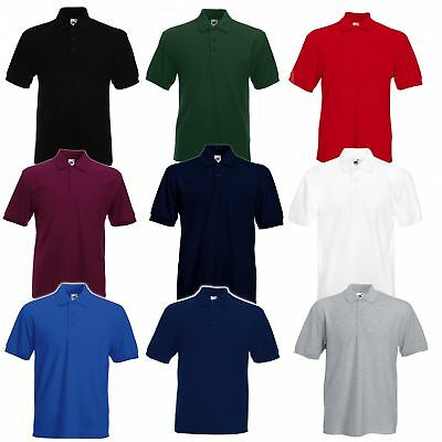 3er Pack dickes Herren Poloshirt Fruit of the Loom Heavyweight Hemd 63-204-0