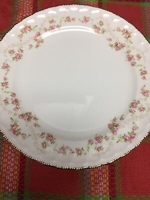 POPE GOSSER Gold Edged China -Pink Roses-52,41, FLORENCE Set of 11 DINNER