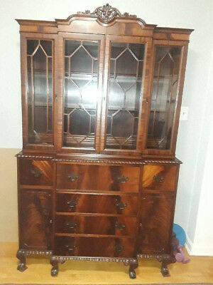 Antique Charles Limbert Mahogany China Cabinet #54 Excellent Condition