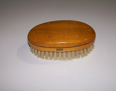 Vintage SWANK Wooden Shoe Brush, Made in West Germany