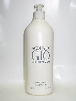 ACQUA di GIO Men GIORGIO ARMANI Shower Gel 33.8 oz / 1 Liter New Jumbo Size Men
