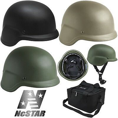 NcSTAR Level IIIA 3A Ballistic Bullet Proof Shell Tactical Helmet w/ Carry Bag