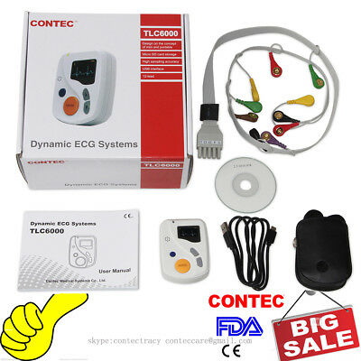 Dynamic ECG Holter Systems 48 Hours EKG Recorder/Analyzer 12 Leads,2GB card,CE