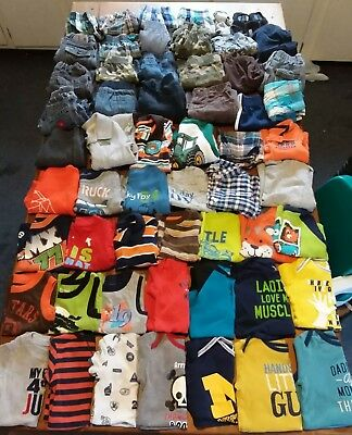 Huge 61 Piece Lot Baby Boy Clothes Sizes 12 & 18 months cute fall winter outfits