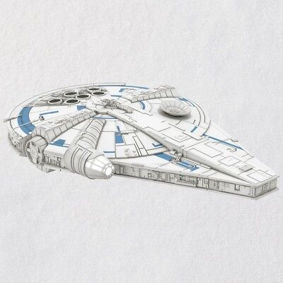 Hallmark 2018 Solo: A Star Wars Story Millennium Falcon Ornament with Light