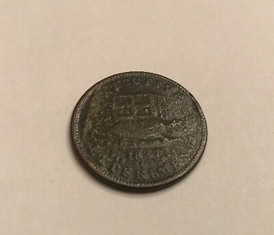 "1837 Hard Times Token HT33 ""I Following The Steps Of My Illustrious Predecessor"""