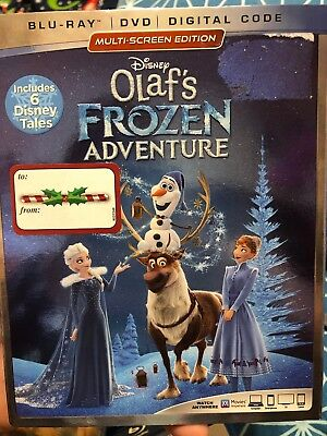 Disney Olaf's Frozen Adventure Blu-ray + DVD + Digital Code BRAND NEW w/ Slip