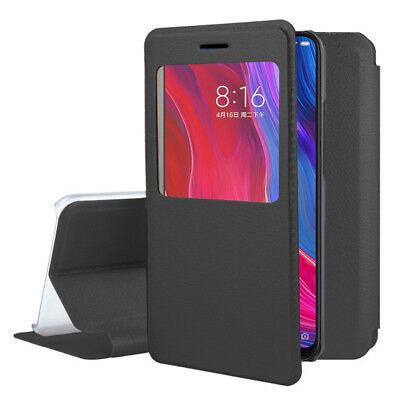 Etui Housse View Case Flip Folio Leather NOIR Xiaomi Mi 8/ Xiaomi Mi8 6.21""