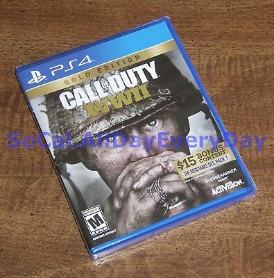 Call of Duty WW2 GOLD Edition (PlayStation 4) BRAND NEW ps4 CoD WWII World War 2