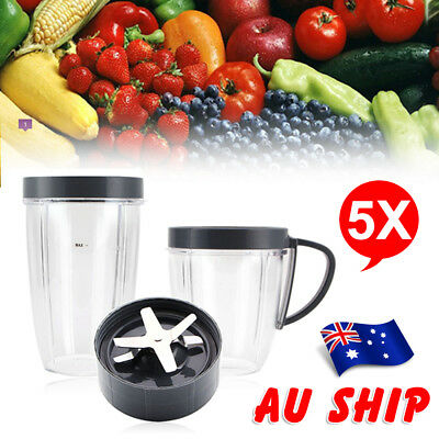 AU Tall Cup/Lids/Extractor Blade Accessory Kit FOR Nutribullet Blender Parts
