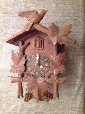 Antique Cuckoo Clock 28x21x17cm For Restoration From Clockmakers Spare Parts