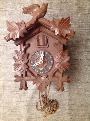 Antique Cuckoo Clock 21x16x13cm For Restoration From Clockmakers Spare Parts